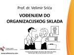 VOĐENJEM DO ORGANIZACIJSKOG SKLADA