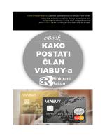 Poklon: Kako postati član VIABUY kartice