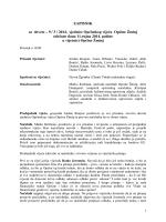 ZAPISNIK sa devete – 9 / 3 / 2014. sjednice