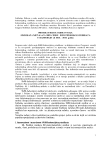 Program rada i djelovanja SMH-IS u razdoblju od 2014. do 2018