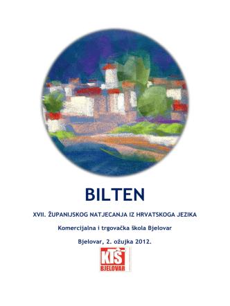 BILTEN - Komercijalna i trgovačka škola Bjelovar