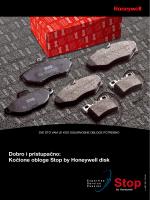Dobro i pristupačno: Kočione obloge Stop by Honeywell disk