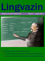 Lingvazin I/1, august 2013. - Institut za bosanski jezik i književnost u