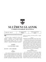Sluzbeni glasnici 15 - Vlada Unsko