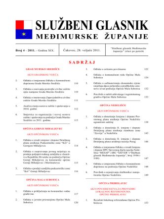 4 - 2011 - Međimurska županija