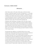 Prof.dr.med.sc. FAHRIJA SKOKIĆ BIOGRAFIJA