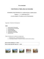 KONGRES FIZIOTERAPEUTA s međunarodnim sudjelovanjem