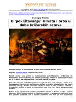 O `pokrštavanju` Hrvata i Srba u doba križarskih ratova