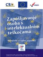 Priručnik za radne asistente - Centar za rehabilitaciju Zagreb