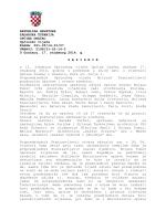 Zapisnik s 12. sjednice Općinskog vijeća Općine