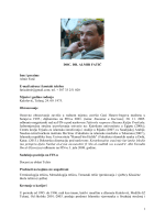 Biografija - Fakultet islamskih nauka u Sarajevu