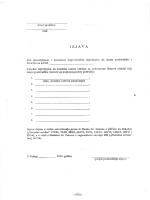 Izjava o prebivalištu/boravištu