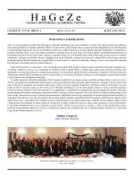 Glasilo HaGeZe, Siječanj 2015. (XVIII/4)