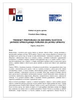 trideset preporuka za reformu sustava javnog upravljanja