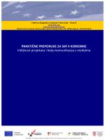 Vidljivost projekata_prirucnik - Fond za ulaganje u znanost i inovacije