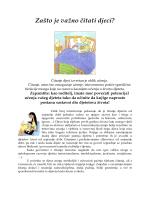 Zašto je važno čitati djeci?