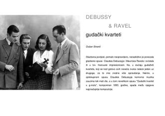 D. Stranić: Debussy & Ravel gudački kvarteti