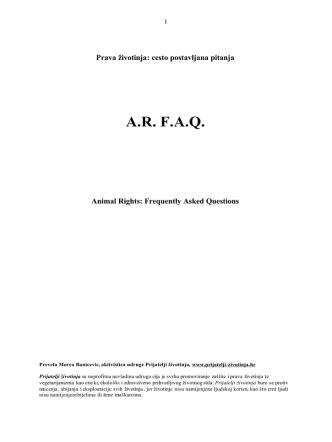 A.R.- F.A.Q..rtf - Prijatelji životinja
