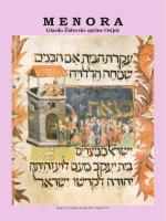 Menora Br. 8-9 - Židovska Općina Osijek