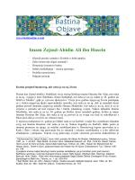 Životopis Imama Sedžada (pdf dokument)