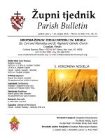 Weekly Bulletin - www.croatianchurchnewyork.org