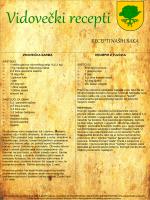 Vidovečki recepti