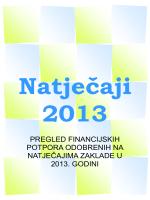 Sažeci odobrenih financijskih potpora 2013. godine