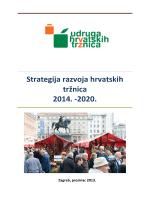 Strategija razvoja hrvatskih tržnica 2014. – 2020.