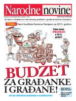 Nacrt bud`eta Kantona Sarajevo za 2013. godinu Kako ćemo (PRE