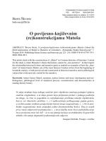 O povijesno-književnim (re)konstrukcijama Matoša