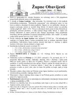 Župne Obavijesti - Župa Marija Kraljica apostola, Zaprešić II