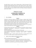 Pravilnik o doktorskim studijima