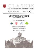 Glasnik Hrvatskog filatelističkog saveza br. 9/10