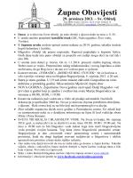 Župne obavijesti 29.12.2013.