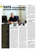 prilogu - Visoka škola za informacijske tehnologije