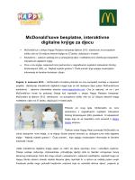 McDonald`sove besplatne, interaktivne digitalne knjige