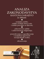 Analiza zakonodavstva Kantona Sarajevo