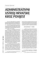 administrativni ustroj hrvatske kroz povijest