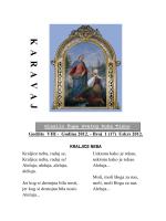 K A  R  AV  A  J - Župa Svetoga Duha Tisno