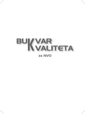 Bukvar kvaliteta za NVO - 2013