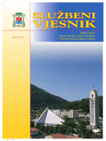Službeni vjesnik, 2/2012. - Biskupije Mostar-Duvno i Trebinje