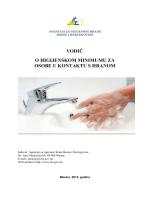 Vodič o higijenskom minimumu za osobe u kontaktu s hranom