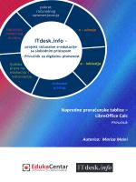 Napredne proračunske tablice – LibreOffice Calc