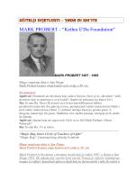 "MARK PROBERT - ""Kethra E`Da Foundation"""