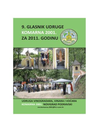 9. GLASNIK Udruge Komarna 2001. za 2011. godinu