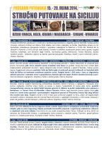 SICILIJA 2014 - STRUČNO PUTOVANJE