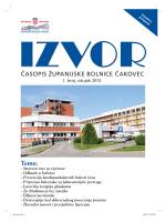 Izvor 1 - Zupanijska bolnica Cakovec
