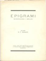 Epigrami - Gradska i sveučilišna knjižnica Osijek