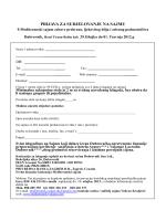 prijava za sudjelovanje na sajmu