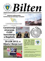 Bilten - Svjetski Savez Dijaspore Bosne i Hercegovine